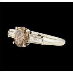 1.20 ctw Fancy Brown Diamond Ring - Platinum
