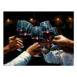 For a Better Life Red Wine with Lights by Perez, Fabian
