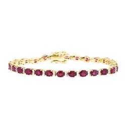 12.44 ctw Ruby And Diamond Bracelet - 14KT Yellow Gold