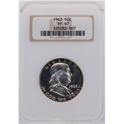 1963 Franklin Half Dollar Proof Coin NGC PF67