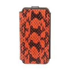 MCM Orange Snakeskin Flap Closure Iphone5 Case