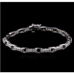 2.03 ctw Diamond Bracelet - 14KT White Gold