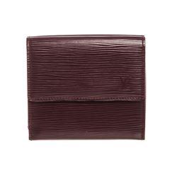 Louis Vuitton Purple Epi Leather Elise Wallet