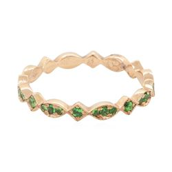 0.35 ctw Tsavorite Ring - 14KT Rose Gold
