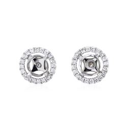 0.15 ctw Diamond Earrings - 14KT White Gold