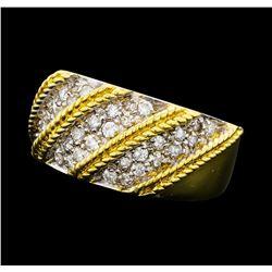 0.70 ctw Diamond Ring - 18KT Yellow Gold