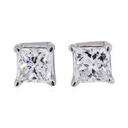 1 ctw Diamond Earrings - 10KT White Gold