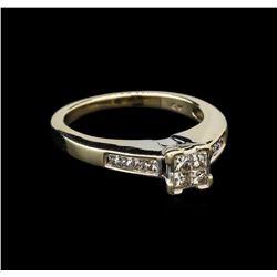 14KT White Gold 0.45 ctw Diamond Ring