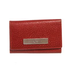 Gucci Red Leather 6 Key Holder