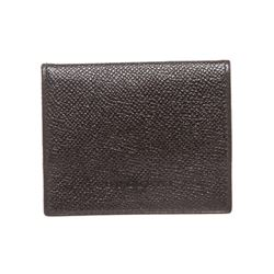 Bvlgari Black Leather Small Coin Pouch Wallet