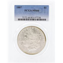 1887 $1 Morgan Silver Dollar Coin PCGS MS66