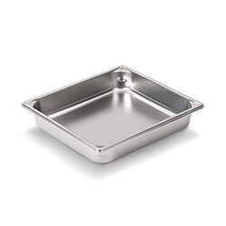 """Qty 6 Vollrath 30222 Steam Table / Hotel Pan - 1/2Size, 2 1/2"""" Deep"""