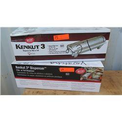 Qty 2 Kenkut 3 Film or Foil Dispenser 12 -18