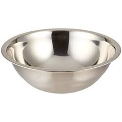 Qty 24 3 Qt. Standard Weight Stainless Steel Mixing Bowl