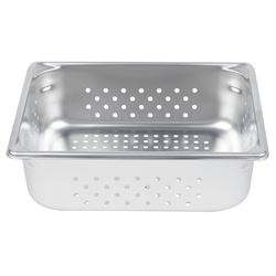 """Qty 6 Vollrath 30243  Perforated Steam Table / Hotel Pan - 1/2 Size, 4"""" Deep"""