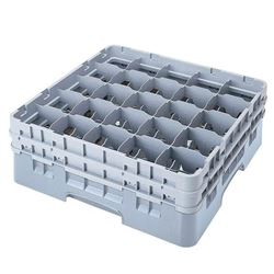 "Cambro 25S800151 Camrack 25 Compartment Glass Rack, 8 1/2"" H"