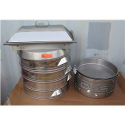 """Qty 9 17""""D Pans, Qty 4 20""""D Steamer Trays, Rectangle Steamer Tray?"""