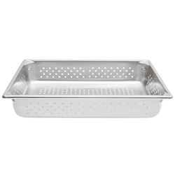 "2 Boxes (6 per box) Vollrath 30043 Perforated Steam Table / Hotel Pan - Full Size, 4"" Deep"