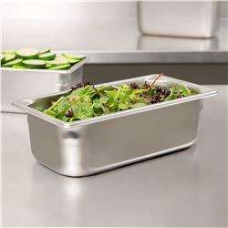 """2 Boxes (6 per box) Vollrath 30342 Steam Table / Hotel Pan - 1/3 size, 4"""" Deep"""