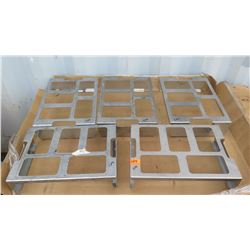 Qty 5 1/6 Pan Slotted Drawer Inserts