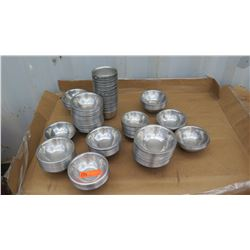 """Qty Approx 200 Stainless Steel Bowls Approx 6"""""""