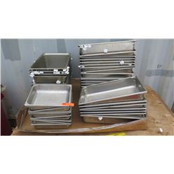 """Qty 8 2"""" 1/2 Size Hotel Pan, Qty Approx 30 4"""" Full Size Hotel Pan"""