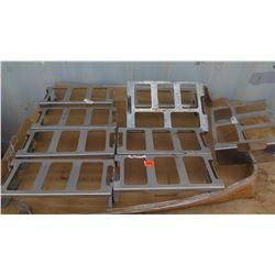 Qty 3 Uline Wire Shelving Caster Set (4 per set)