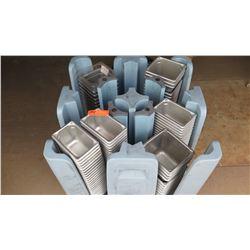 Qty 1 Plastic Rolling Dish Rack