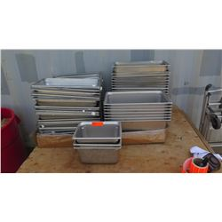 "Approx 20 Full Size Hotel Pans 2"", Qty 7 Full Size Hotel Pans 6"", Approx 15 Full Size Hotel Pans 4"""