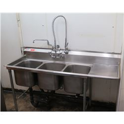 Eagle Stainless Steel Three Basin Sink