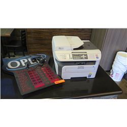 Misc Lot - Printer & Open Sign