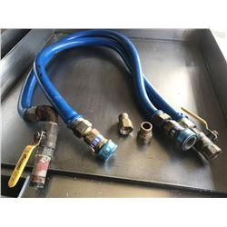 Qty 2 Quick Disconnect Equipment Line Gas Hoses