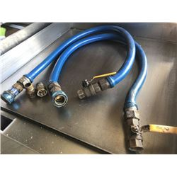 Qty 2 Quick Disconnect Equipment Line Gas Hoses (Pick-up from Mililani)