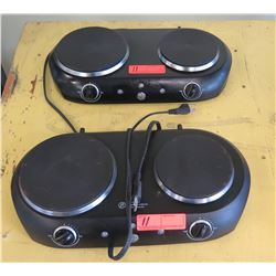 GE Double Burner Electric Hot Plates 2pc
