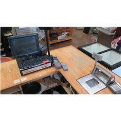 Elo POS System Kiosk, Ticket Machine, Credit Card Readers, PSC Magellan In-Counter Scanner Scale