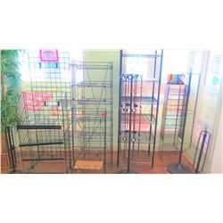 Black Metal Display Shelving Units and Stands (Approx 10pcs)