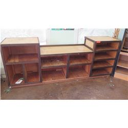Large Wooden 11-Compartment Display Shelving Unit