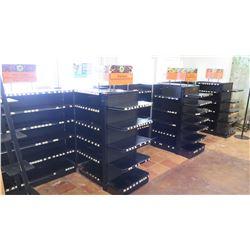 Madix Black Adjustable Retail Shelving Units (Varied Styles & Sizes)