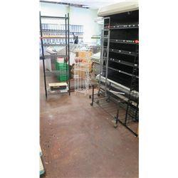 Metal/Wood Display Shelving and Racks