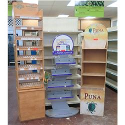 Display Shelving Units: Puna, Herb Phram, New Chapter