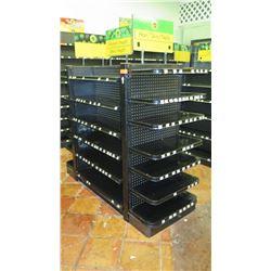 Madix Black Adjustable Retail Shelving Unit