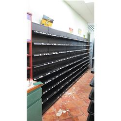 Madix Black Adjustable Retail Wall Shelving Unit
