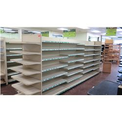 "Madix Off-White Adjustable Retail Shelving System (Entire Row, Approx. 227"" L)"