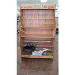 Wooden Merchandise Display Cabinet w/ Shelving
