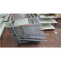 Folding Metal Chairs, Approx 11 pcs