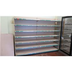 Madix Off-White Adjustable Retail Shelving Unit