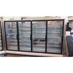 Hussmann RL-4 Reach-In 4 Door Merchandiser Cooler