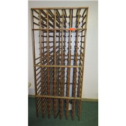 Wooden Wine Rack (Slightly Wobbly), Approx. 32.5 x 25 x 75.5 H