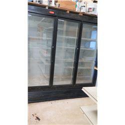 Hussman HGL-3-BS Reach-In 3 Door Merchandiser Refrigerator/Freezer