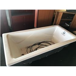 "Bathtub from Model Home Showroom, Unused 6' L, 3' W, Approx. 21"" H"